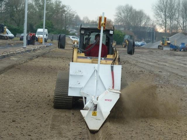 Furrow machine for drainage